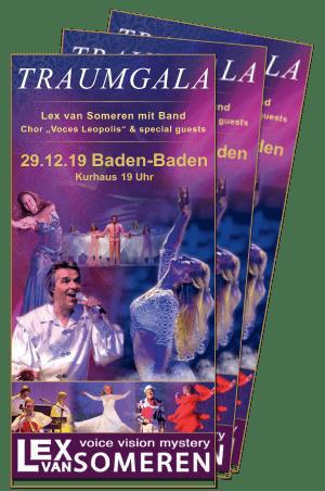 Traumgala Flyer, Konzert mit Lex van Someren, 29.12. Baden-Baden