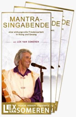 Mantra-Singabend-Flyer mit Lex van Someren