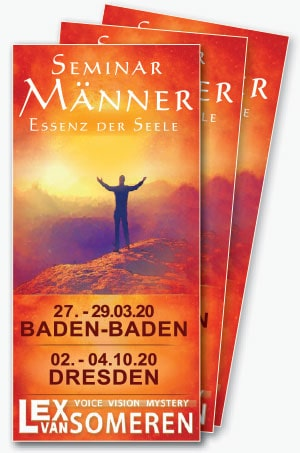 Männerseminar-Flyer mit Lex van Someren