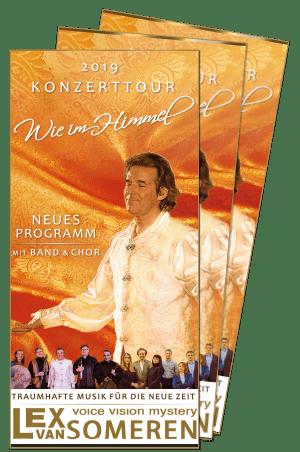 Wie im Himmel-Flyer, Konzerttournee 2019 mit Lex van Someren, spirituelle Musik