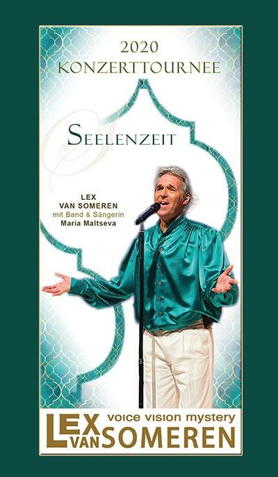 """Tournee-Flyer """"Seelenzeit"""" 2020 mit Lex van Someren, spirituelle Musik"""